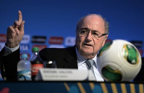 FBL-WC2014-BRAZIL-DRAW-BLATTER-VALCKE-CONFERENCE