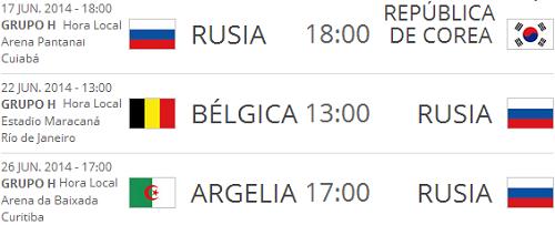 fechas rusia