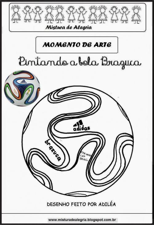 brazuca colorearCOLORINDO BRAZUCA