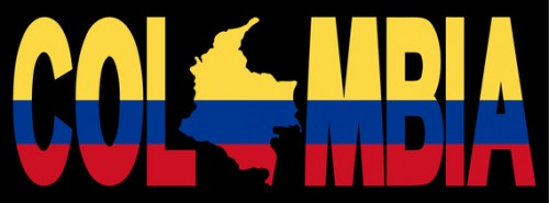 Colombia text with map