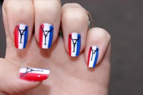 unas-con-la-bandera-de-Francia