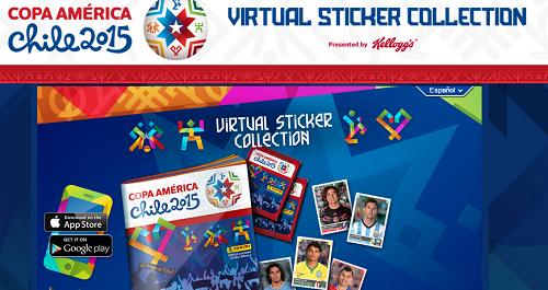 codigos album virtual de la copa america 2015